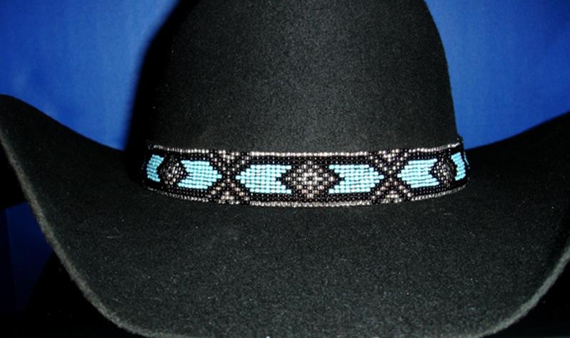 western equestrian decor cowboy blue black beaded