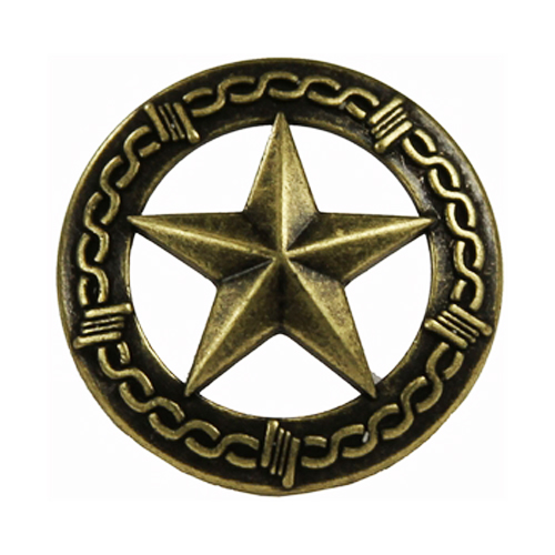 Western Decor Set Of 25 1 Quot Brass Star Barbed Wire