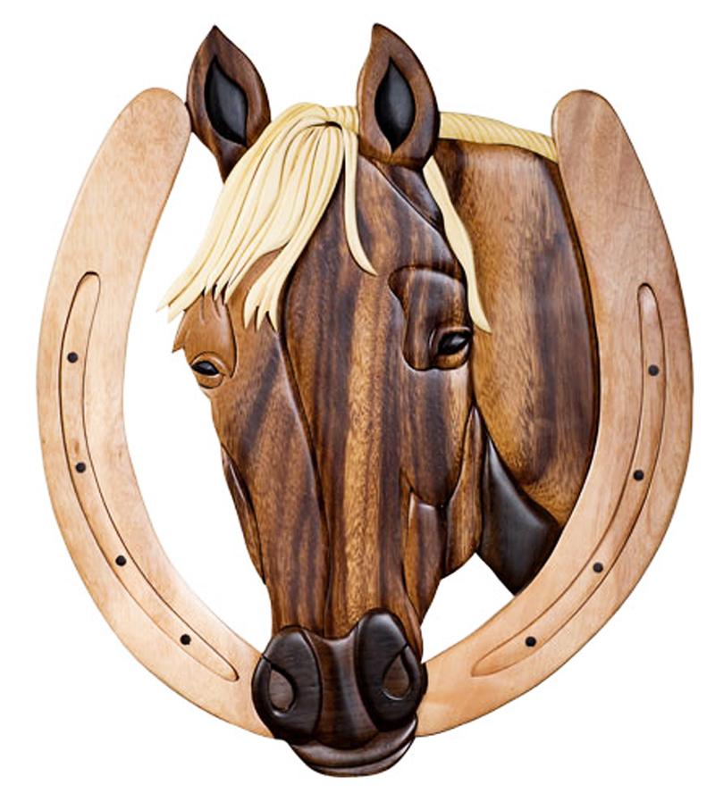 Unique Wood Wall Decor : Western wall decor unique horse head handmade wood