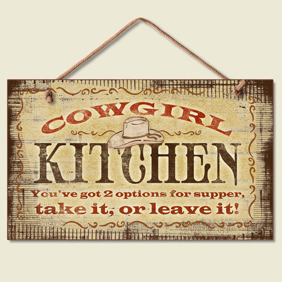 Cowboy Kitchen: Western Lodge Cabin Decor ~Cowgirl Kitchen~ Wood Sign W