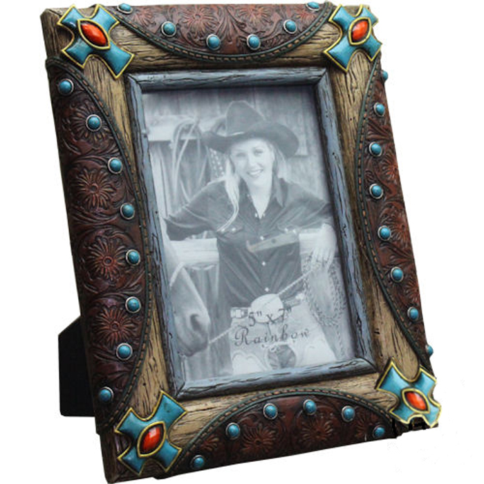 Western Decor Frames: Western Decor Lodge Cabin Western Turquoise Cross Picture